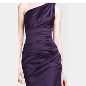 Davids Bridal Plus Size Plum Dress Style 85106